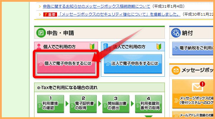 e-tax 確定申告 郵送